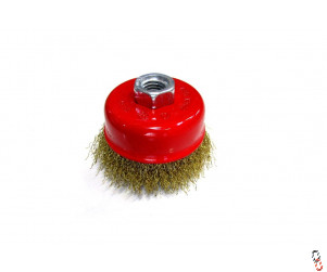 Crimped Cup Brush M14 thread,  75mm diameter
