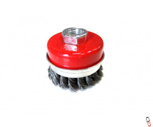 Twisted knot Cup brush M14 thread, 75mm diameter