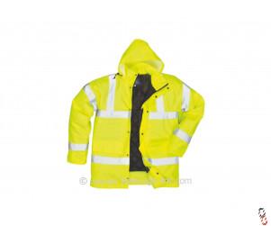 Hi-Vis Yellow Padded Traffic Jacket