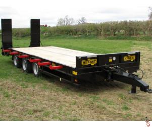 NEW HERBST 26ft, Heavy Duty TriAxle, Plant Trailer, 33 tonne gross, 26.5 tonne carry