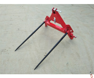 Bale Spike - Twin Folding, 3 Point Linkage Fit, New