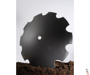 "26""/660mm x 6mm, 50.8mm round centre, cutaway disc blade for Dowdewell/Pettit"