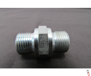 "Hydraulic Adaptor 3/8"" Male to 3/8"" Male BSP"