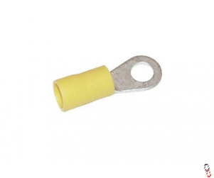 Yellow Insulated 8mm Ring Crimp Connector, 4.0-6.0mm