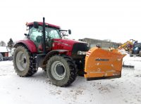 Proforge V Blade Snow Plough at work in large Snow Drifts