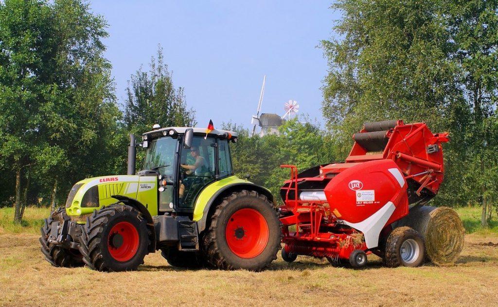 round hay baler